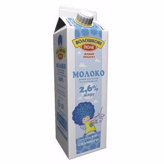 Молоко ультрапастеризованное 2,5% Волошкове Поле, 1000г