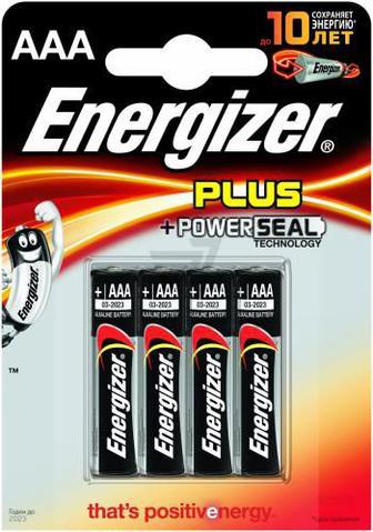 Батарейка Energizer Plus AAA (R03, 286) 4 шт. (7638900297386)