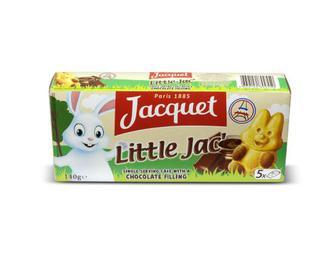 Бісквіт Jacquet «Маленький Джек» з шоколадним наповнювачем, 140 г