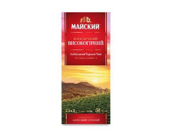 Чай «Майский» чорний індійський класичний високогірний, 25×2г