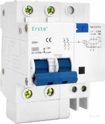 Автоматичний вимикач Erste EB5-63 3P 40A тип С 6кА