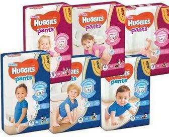 Трусики подгузники Huggies Pants 3.4.5р 34,36,44шт