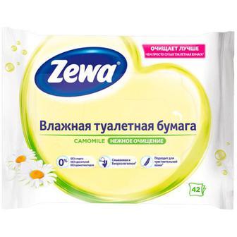 Папір туалетний Zewa Natural Camomile вологий 42шт