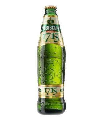 Пиво Львівське 1715 світле 4,7% скл. Львівське, 0,45л