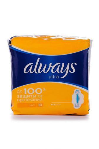 Прокладки для критических дней Always Ультра лайт 10шт