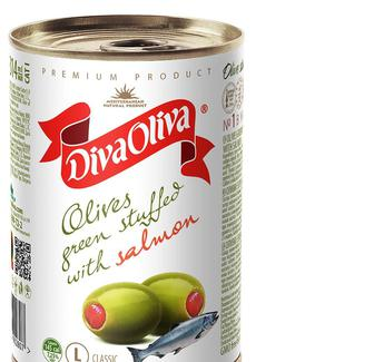 Оливки с сёмгой, DIVA OLIVA, 300г
