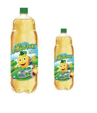 Напій зі смаком яблука газований/негазований Живчик 2л