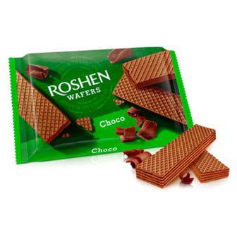 Вафлі Waffers шоколад Roshen, Україна, 72г