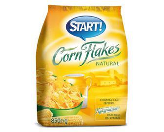 Пластівці Start кукурудзяні натуральні, 850г