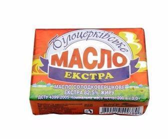 Масло Екстра 82,5% Білоцерківське 180г