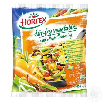Овочі для смаження або овочі для смаження  По- східному Hortex 400 г