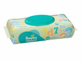 Вологі серветки Pampers Sensitive та Natural Clean 56ш