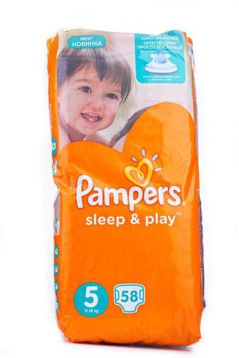 Подгузники PAMPERS Sleep & Play р5 11-16кг 58шт Jumbo