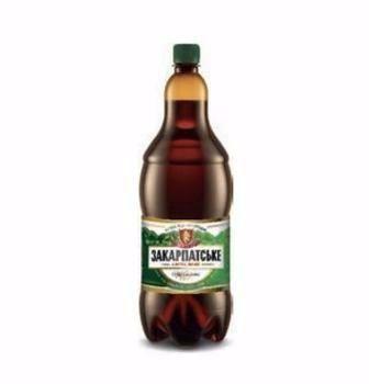 Пиво Закарпатское светлое оригинальное 4,0% Перша Приватна Броварня 0,9л