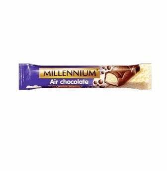 Шоколад пористий молочний білий в молочному шоколаді, Millennium 32г