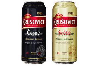 Пиво Svetle, Cerne Krusovice 0,5 л