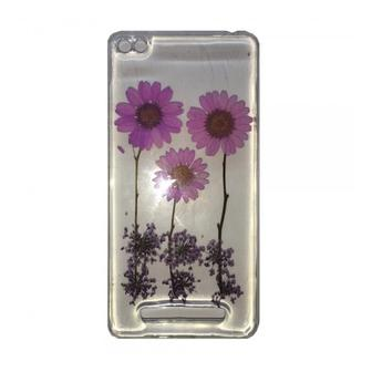 Natural Flowers Case for Xiaomi Redmi 4a Violet