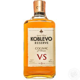 Коньяк Резерв VS 3* Коблево 0,5 л