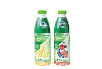 Закваска Лактонія напій кисломолочний йогуртний з лактулозою Злаки / Лісова Ягода 1,5% Lactel 870 г