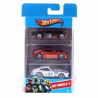 Подарунковий набір автомобілів Hot Wheels 3 шт
