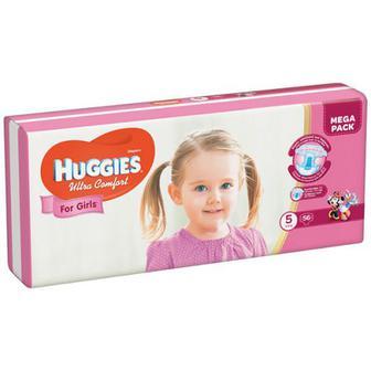 Підгузки Huggies Ultra Comfort д/дівчаток 5 12-22кг 56шт.