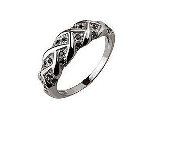 Золотое кольцо Колос с фианитами