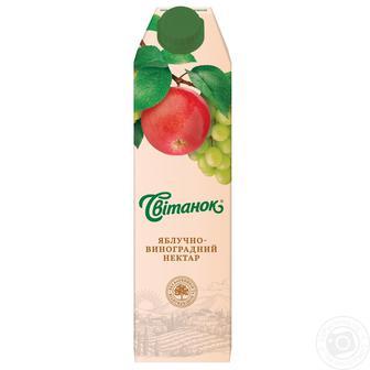 Нектар яблочно-виноградный, яблочно-вишневый Свитанок , 0,95 л