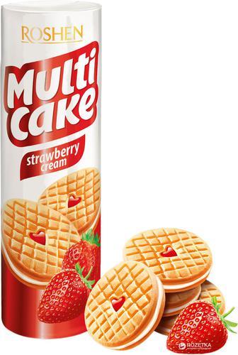 Печиво Multicake Roshen Doube Milk та Cacao 170 г