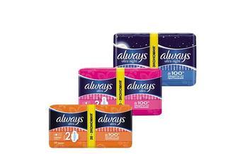 Прокладки гігієнічні Ultra Normal plus Duo, 20 шт. Ultra Super plus Duo, 16 шт. Ultra Night Duo, 14 шт. Always