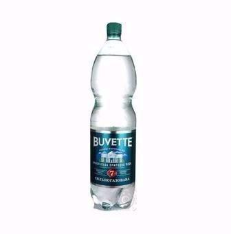 Вода минеральная    Бювет №5 газ, Лимон сл/газ, 1,5 л