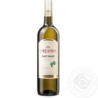 ВИНО напівсолодке Pinot Blanc, Pinot Noir, 0,75 л OREANDA