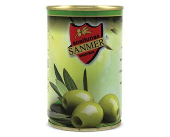 Оливки Sanmer зелені без кісточки, 314мл
