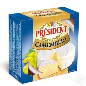 Сир м'який Камамбер President, 90 г