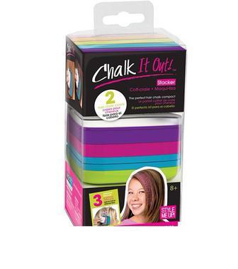 Набор мелков для волос с трафаретами Style Me Up (01618)