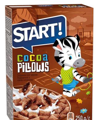 Сухой завтрак Start с какао начинкой 250 г