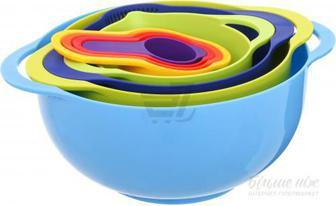 Набір мірного посуду 8 предметів різнокольоровий