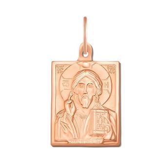 Золотая подвеска-икона «Иисус Христос». Артикул 30777