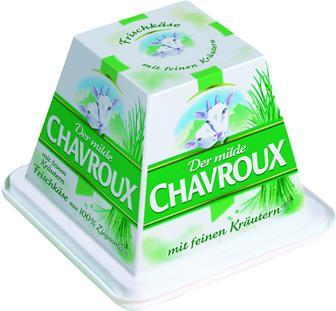 Сир Chavroux свіжий з козиного мол.з цибулею 150г