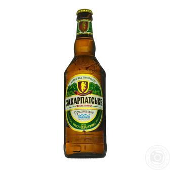 Пиво світле Закарпатське Перша приватна броварня