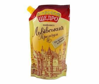 Майонез Львівський Преміум 80% Щедро 350г