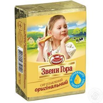 Сир плавлений оригінальний 90 г брикет Звенигора