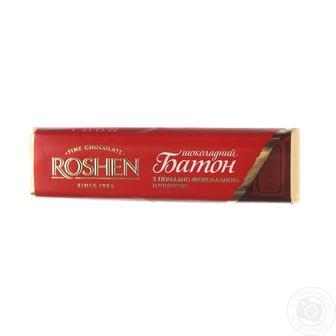 Батон шоколадный с помадно-шоколадной начинкой Roshen, 43г