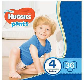 Трусики-подгузники Huggies Pants для мальчиков р4 9-14 кг 36 шт